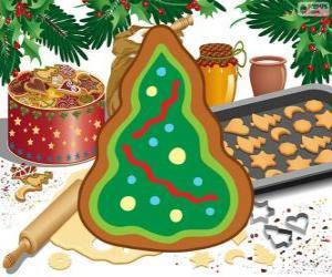 Weihnachtsbaum, ein Weihnachtsgebäck puzzle