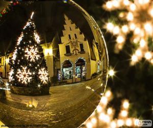 Weihnachtsbaum-Reflexion puzzle