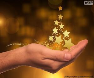 Weihnachtsbaum, Sternen puzzle