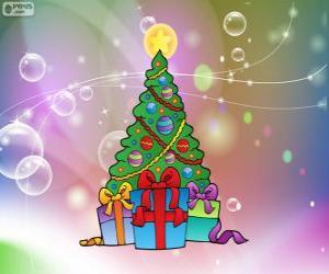 Weihnachtsbaum zeichnen puzzle
