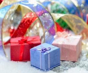 Weihnachtsgeschenke schön präsentiert puzzle