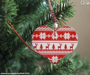 Weihnachtsherz puzzle