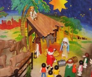 Weihnachtskrippe Playmobil puzzle