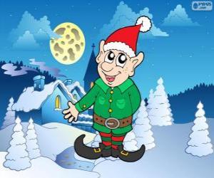 Weihnachtsmann elf puzzle