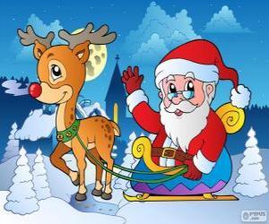 Weihnachtsmann im Schlitten puzzle