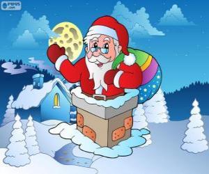 Weihnachtsmann im Schornstein puzzle