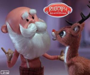 Weihnachtsmann mit Rudolph puzzle
