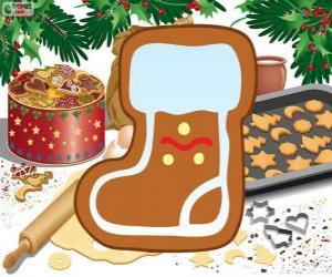Weihnachtsmann Stiefel Keks puzzle
