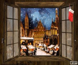 Weihnachtsmarkt, Fenster puzzle
