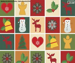 Weihnachtsmotivpapier puzzle
