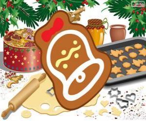 Weihnachtsplätzchen wie eine Glocke puzzle