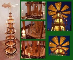 Weihnachtspyramide puzzle
