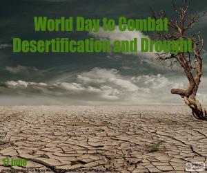 Welttag der Kampf gegen die Wüstenbildung puzzle