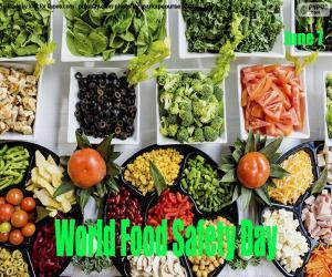 Welttag der Lebensmittelsicherheit puzzle