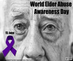 Welttag des Bewusstseins von Missbrauch und Misshandlung im hohen Alter puzzle