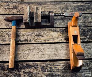 Werkzeuge für die Holzbearbeitung puzzle