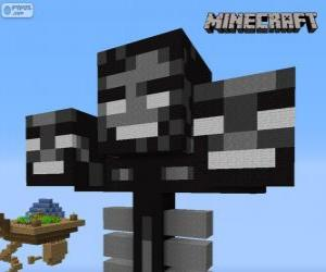 Whither, eine Chef-Kreatur in Minecraft puzzle