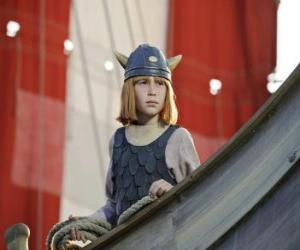 Wickie in der drakkar oder wikinger-schiff puzzle