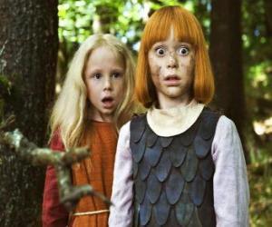Wickie und die starken neben ihrer besten Freundin, Ylvi puzzle