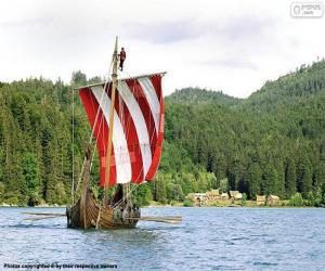 Wikingerschiff Ruderer puzzle