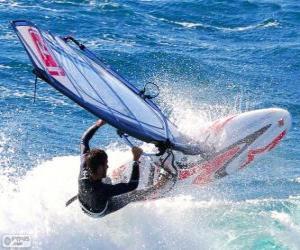 Windsurfen üben puzzle