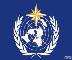WMO-Logo, Weltorganisation für Meteorologie puzzle