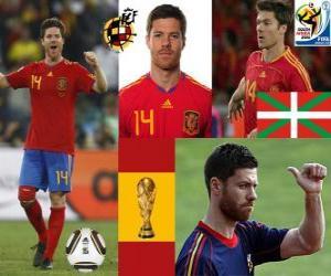 Xabi Alonso (Lunge) Spanish National Team Mittelfeldspieler puzzle