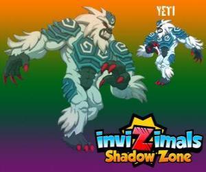 Yeti. Invizimals Schattenzone. Die leistungsstarke Yetis leben in den höchsten Gipfeln des Himalaya versteckt puzzle