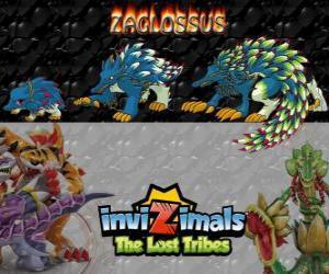 Zaglossus, neueste Entwicklung. Invizimals Die verlorenen Stämme. Invizimal ähnelt einem Stachelschwein puzzle