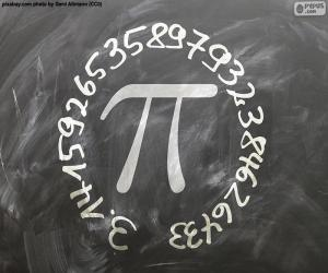 Zahl π (pi) puzzle