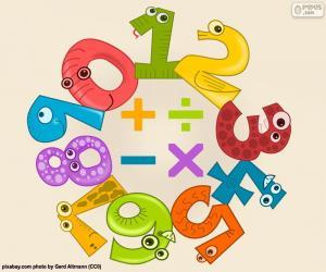 Zahlen und Symbole puzzle