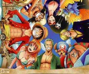 Zeichen aus One Piece puzzle