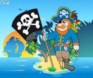 Zeichnung der Piratenkapitän puzzle