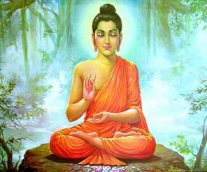 Zeichnung des Gautama Buddha puzzle
