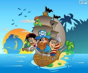 Zeichnung des Piratenschiff puzzle