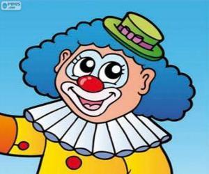 Zeichnung von der Clown-Gesicht puzzle