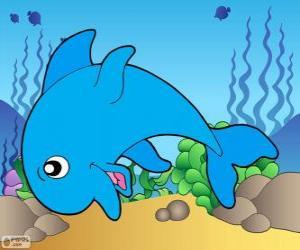 Zeichnung von Dolphin puzzle
