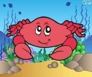 Zeichnung von Krabbe puzzle