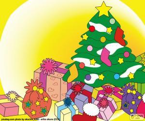 Zeichnung, Weihnachtsbaum puzzle