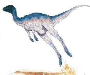 Zephyrosaurus war ein zweibeiniger Korridor von nur 1,8 Meter Länge mit einem Gewicht von 50 kg puzzle