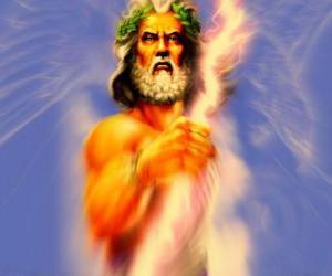 Zeus, der griechische gott des himmels und donner und der könig der olympischen götter puzzle