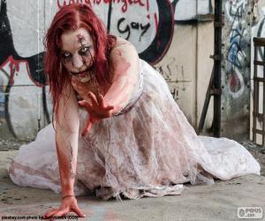 Zombie Halloween puzzle