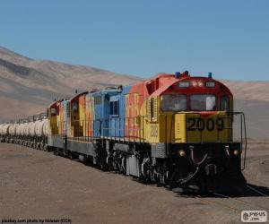 Zug des Güterverkehrs, Chile puzzle