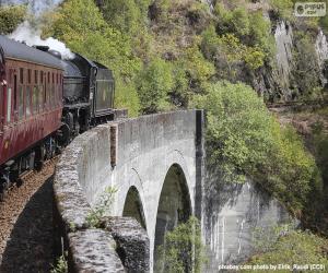 Zug durch ein Viadukt puzzle