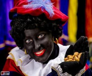 Zwarte Piet, Schwarzer Peter, der Assistent des Heiligen Nikolaus in den Niederlanden und Belgien puzzle