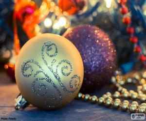 Zwei elegante Bälle Weihnachten puzzle