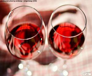 Zwei Gläser Wein puzzle
