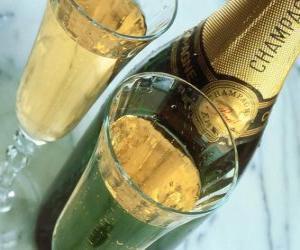 Zwei Gläser Champagner puzzle