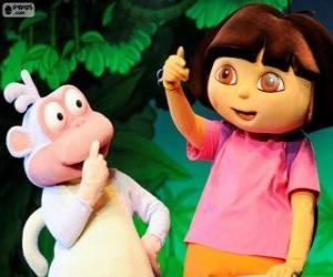 Zwei gute Freunde, Dora und Boots puzzle