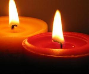 Zwei Kerzen puzzle
